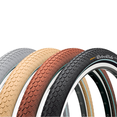 "Покрышка Continental RIDE Cruiser Reflex, 28""x2.00, 50-622, Wire, ExtraPuncture Belt, 1130гр., коричневый"