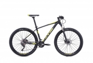 "Велосипед 27,5"" CTM Caliber 1.0 matt black yellow 2018"