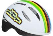 Детский шлем LAZER ЧЕМПИОН белый/радужный разм.46-52cм