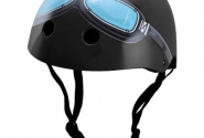 Шлем детский Kiddimoto Black Goggle