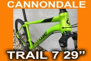 "Велосипед 29"" Cannondale TRAIL 7 2018 зеленый"